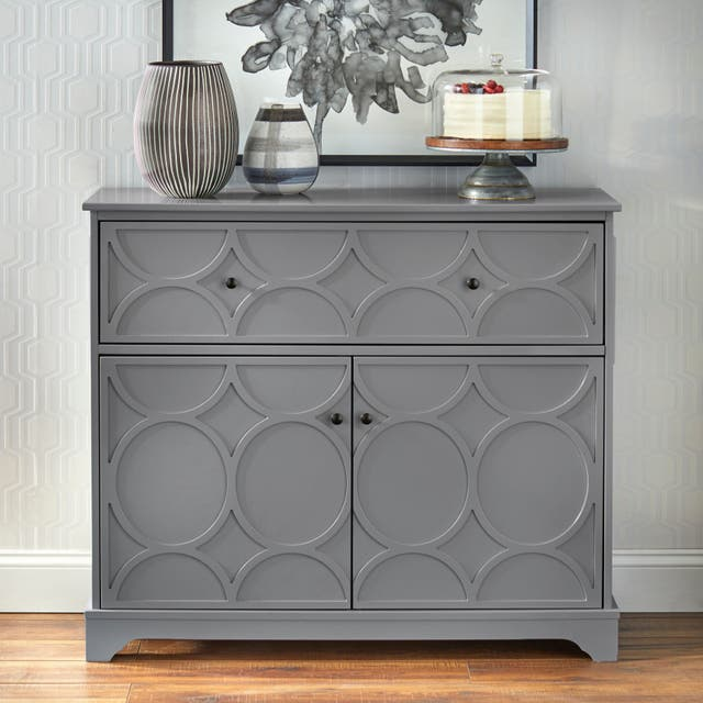 Simple Living Dawson Circle Front Cabinet - Charcoal Grey