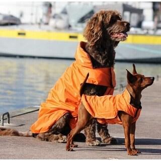 AGPtEK Waterproof Nylon Dog Winter Coat Jacket for Large Dogs - Orange L