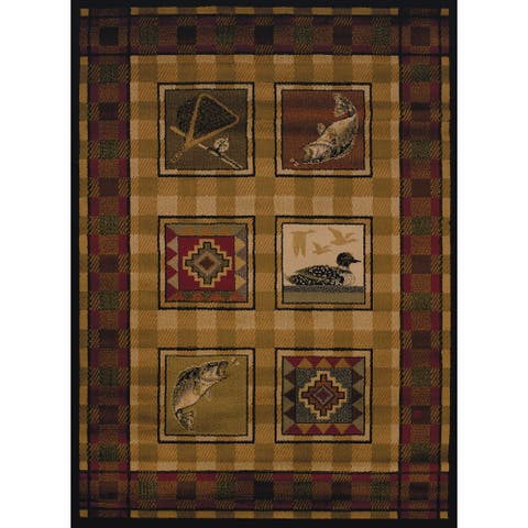 Copper Grove Carson Fish & Bird Area Rug