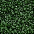 Miyuki Delica Seed Beads 11/0 Opaque Olive Green DB797 7.2 Grams - Thumbnail 0