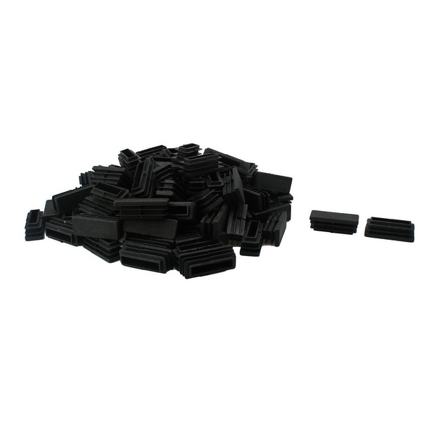 105pcs 15 x 40mm Plastic Rectangle Ribbed Tube Inserts End Cover Cap Furniture Glide Chair Feet Floor Protector