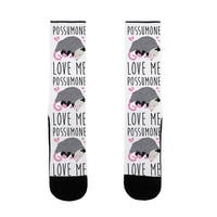 LookHUMAN Possumone Love Me Opossum US Size 7-13 Socks