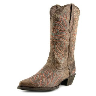 Ariat Round Up J Toe Women Pointed Toe Leather Brown Western Boot