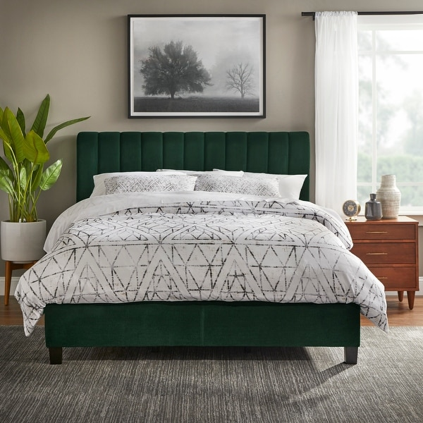 Lifestorey Teagan Queen Channel Upholstered Bed. Opens flyout.
