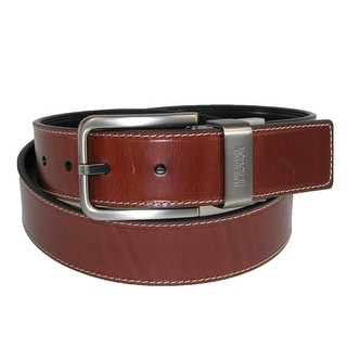 Kenneth Cole Reaction Men's Big & Tall Oil Tanned Reversible Belt - black to brown