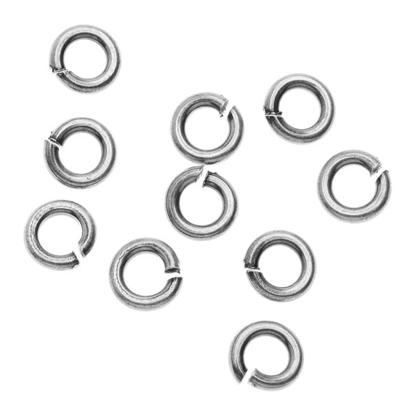 Nunn Design Findings, 5.5mm 16 Gauge Open Jump Rings, 10 Pieces, Antiqued Silver