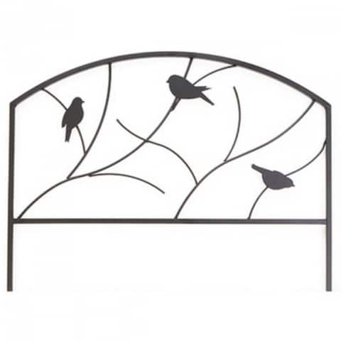 "PanaceaA¢ 84565 Perching Birds Garden Edge, 18"" x 24"", Black"