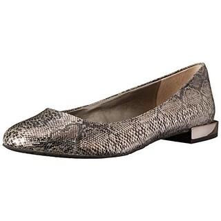 Tahari Womens Ranma Leather Round Toe Ballet Flats - 6 medium (b,m)