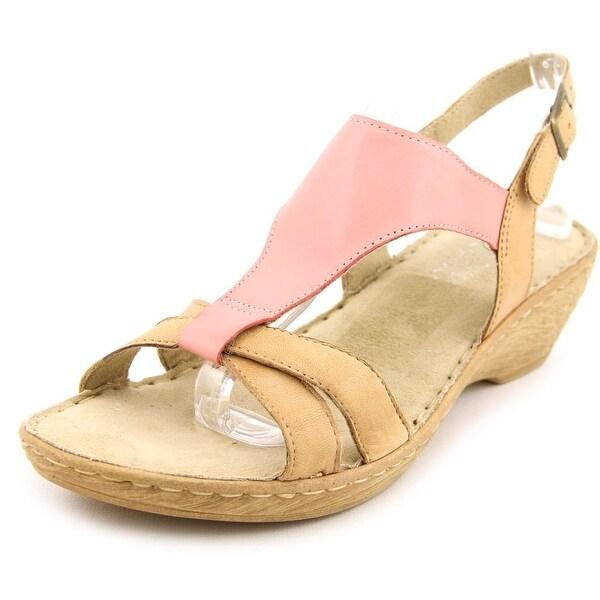 Bella Vita Gubbio N/S Open Toe Leather Wedge Sandal