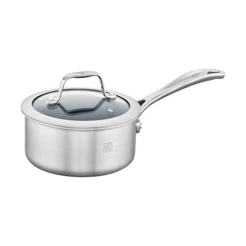 ZWILLING Spirit 3-ply Stainless Steel Ceramic Nonstick Saucepan - Stainless Steel