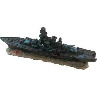 Sunken Warship Aquarium Ornament