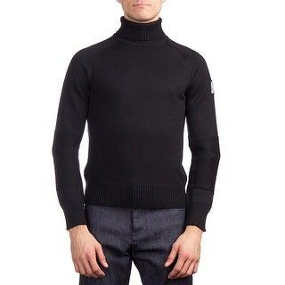Moncler Men's Virgin Wool Turtleneck Sweater Black