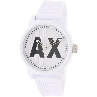Armani Exchange Men's AX1450 White Silicone Japanese Quartz Fashion Watch
