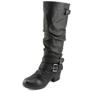 Carlos by Carlos Santana Claudia Round Toe Synthetic Knee High Boot