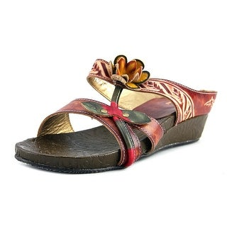 Spring Step Tropic Women Open Toe Leather Wedge Sandal