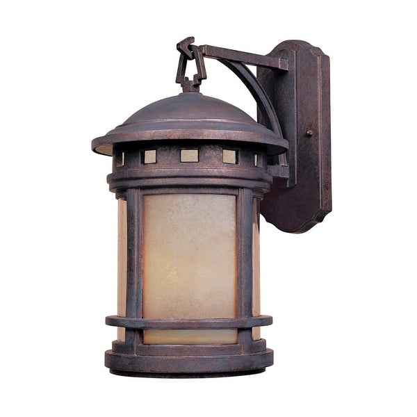 """Designers Fountain 2381-AM-MP 3-Light 9"""" Cast Aluminum Wall Lantern from the Sedona Collection"""