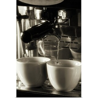 """""""The art of fresh coffee making, pouring and filtering fresh coffee"""" Poster Print"""