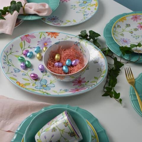 """Euro Ceramica Charlotte 15"""" Oval Serving Platter"""