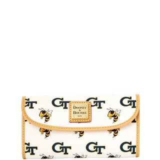 Dooney & Bourke NCAA Georgia Tech Continental Clutch (Introduced by Dooney & Bourke at $128 in Nov 2014)