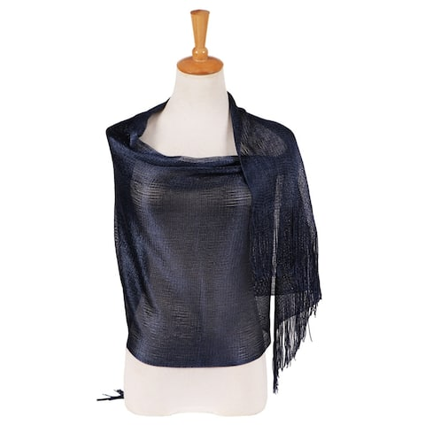 Glossy Solid Color Tassels Soft Banquet Evening Party Women Shawl Scarf Wrap