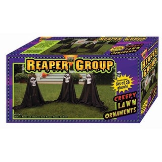 Link to Grim Reaper Group Outdoor Halloween Prop Decoration Set of 3 - Multi Similar Items in Outdoor Halloween Decorations