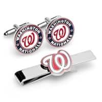 Cufflinks PD-NAT-CT Washington Nationals Cufflinks & Tie Bar Gift Set