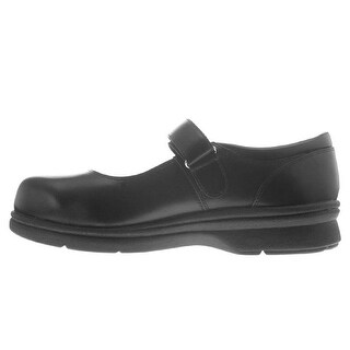 Propét Womens Mary Jane Walker Leather Closed Toe Mary Jane Flats