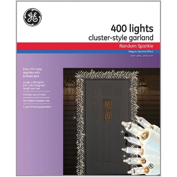 ge 63046 mini clear christmas light set 165 l white wire