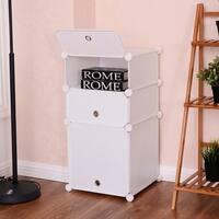 Costway 3 Cubic Bookcase Storage Cabinet Shelf Clothes Closet Organizer Home Furni