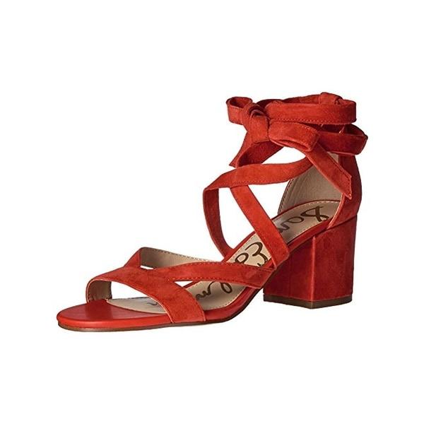 1bea2fd31269 Shop Sam Edelman Womens Sheri Dress Sandals Suede Block Heel - Free ...