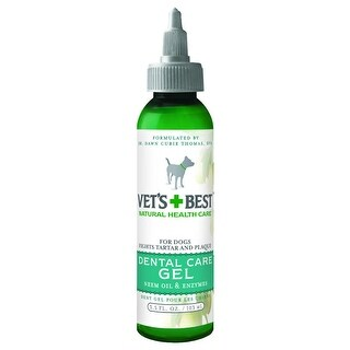 "Vet's Best Dog Dental Gel Toothpaste 3.5oz Green 5"" x 0.5"" x 9"""