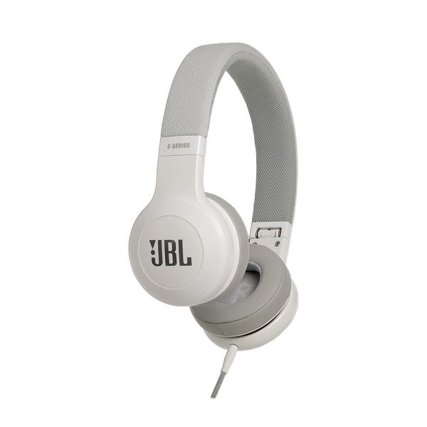 JBL E35 On-Ear Signature Headphones With Microphone and Remote Control - White - 10 x 3 x 9