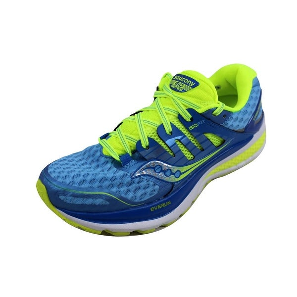a8009989970e Shop Saucony Women s Triumph Iso 2 Blue Light Blue-Citron S10290-4 ...
