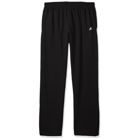 Russell Mens Pants Black Size 2XL Fleece Drawstring Sweatpants Stretch