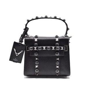 Valentino Rockstud Rolling Noir Leather Mini Tote Shoulder bag