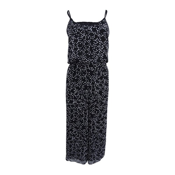 52bb0798c6f Shop Michael Kors Women s Star-Print Jumpsuit - Black White - On Sale -  Free Shipping Today - Overstock - 22992109