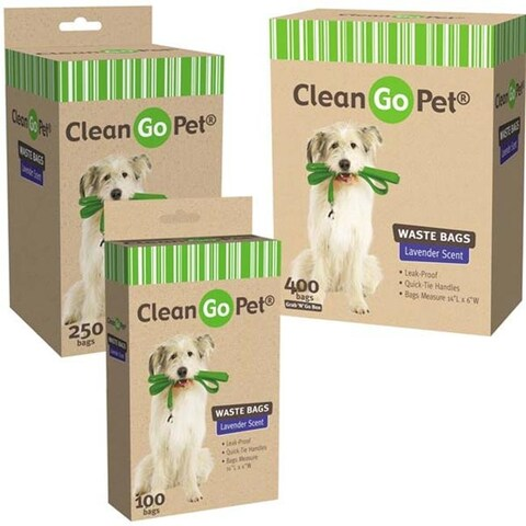 Clean Go Pet Lavender Scent Doggy Waste Bags 400-Count - ZW034 40