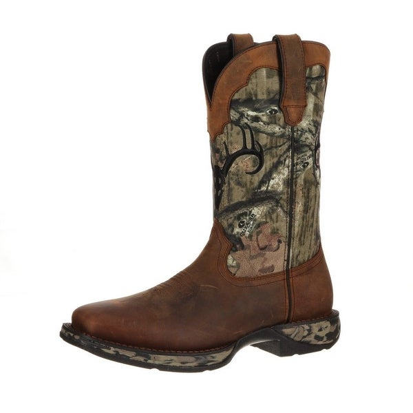 Durango Western Boots Mens Deer Skull Waterproof Leather Brown