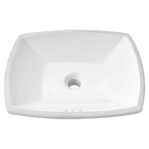 "American Standard 0545.000 Edgemere 18-1/2"" Undermount Vitreous China Bathroom Sink with Overflow - White"