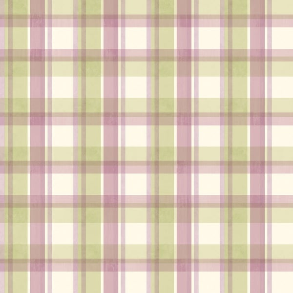 "Brewster MEA21534-SAM 8""x 10"" Sample of MEA21534 - Green Sunday Plaid"