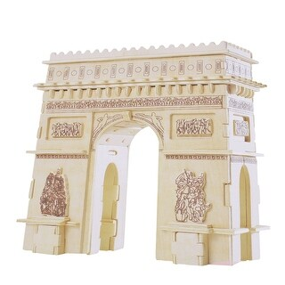 Kids Gift Cubic Triumphal Arch of France Picture DIY Wooden Puzzle Toy