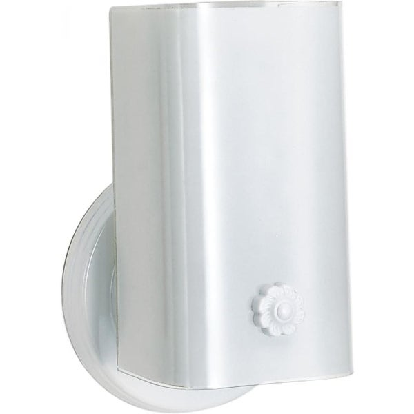 """Nuvo Lighting 77/989 1-Light 7-1/2"""" Tall Outdoor Wall Sconce with Frosted Glass Shade - ADA Compliant - White - n/a"""