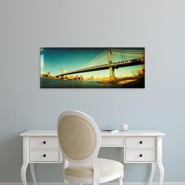Easy Art Prints Panoramic Images's 'Suspension bridge,, Brooklyn Bridge, Manhattan, New York City' Canvas Art