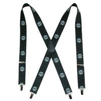 CTM® Men's Elastic Sheriff Print Clip-End Suspenders - One size