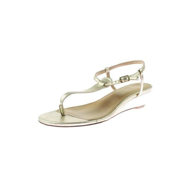 Splendid Womens Justin Dress Sandals Solid Mini Wedge