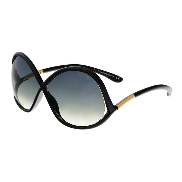 Tom Ford FT0372 01B IVANNA Black Square Sunglasses - 64-08-135
