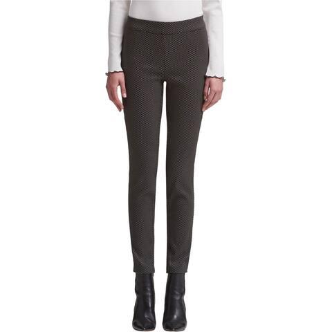 DKNY Womens Pull On Casual Leggings, Black, Large