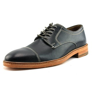 Johnston & Murphy Campbell Men  Cap Toe Leather Black Oxford