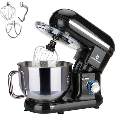 5.8QT 6 Speed Control Electric Stand Mixer with Stainless Steel Bowl