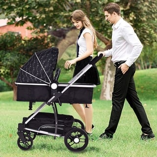 Costway 2 In1 Foldable Baby Stroller Kids Travel Newborn Infant Buggy Pushchair Black|https://ak1.ostkcdn.com/images/products/is/images/direct/9c785634ca1792d1cb2df23debd8b77a37b85012/Costway-2-In1-Foldable-Baby-Stroller-Kids-Travel-Newborn-Infant-Buggy-Pushchair-Black.jpg?impolicy=medium